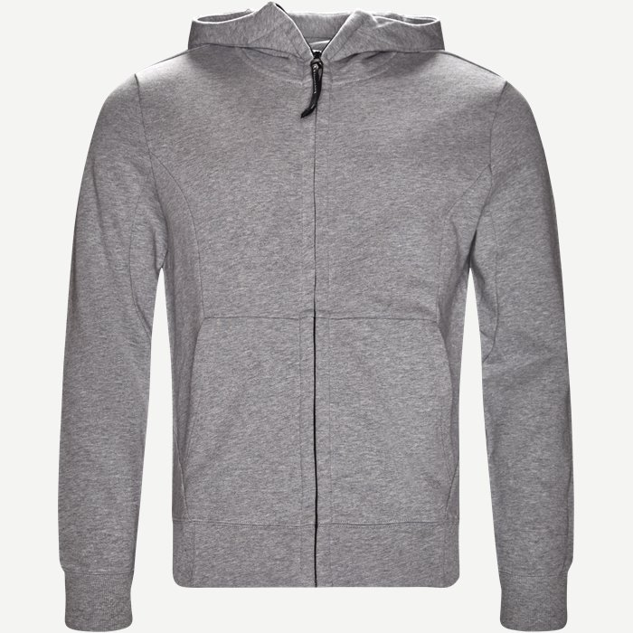 Hooded Open Sweatshirt - Sweatshirts - Regular - Grå